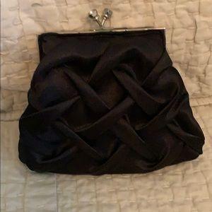 Handbags - Small black satin clutch